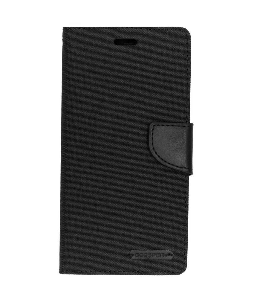 Mercury Goospery Zwart Canvas Diary Case Samsung Galaxy A7 (2018)