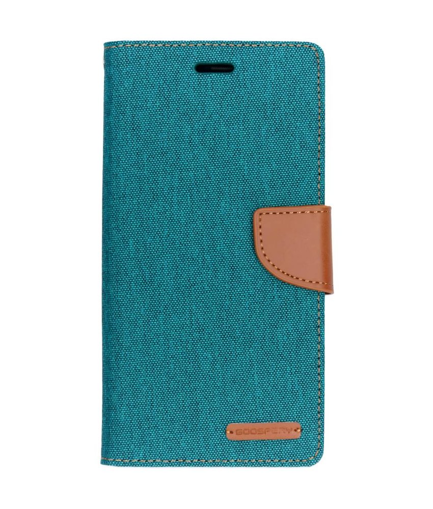 Mercury Goospery Groen Canvas Diary Case Samsung Galaxy A7 (2018)