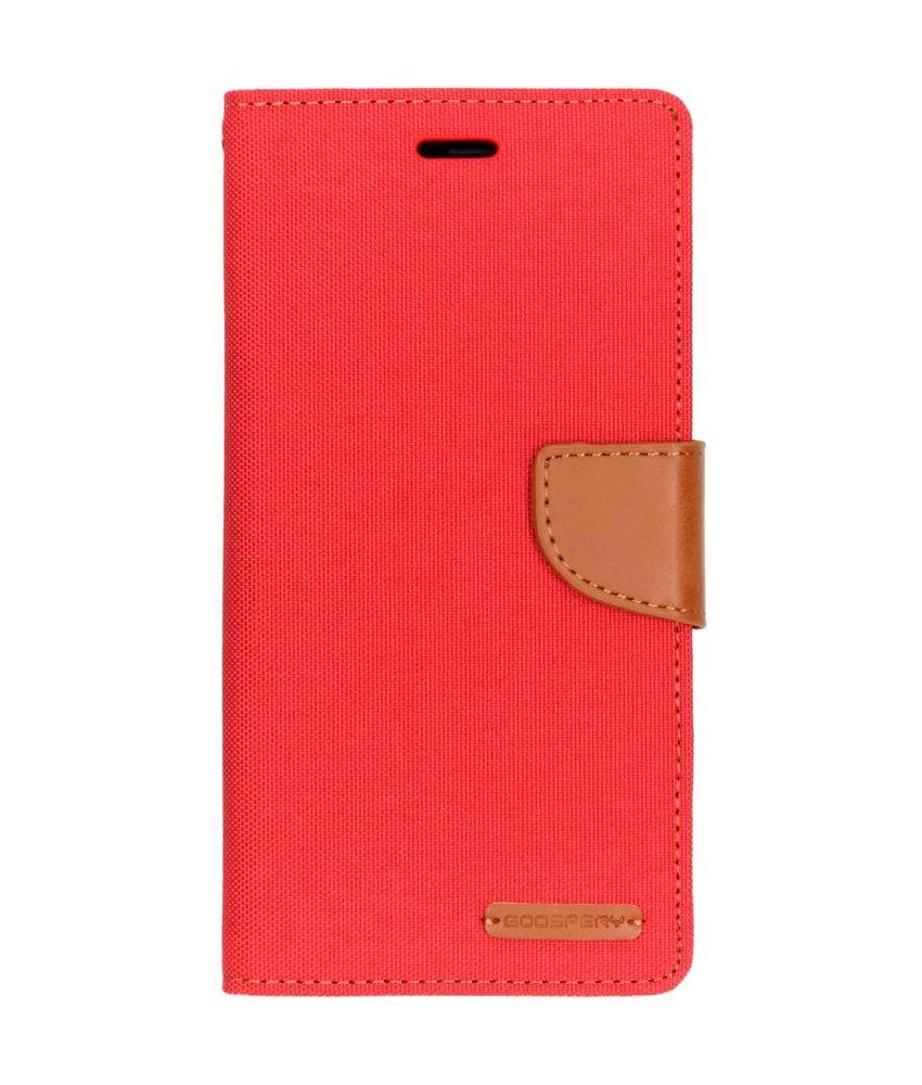 Mercury Goospery Rood Canvas Diary Case Samsung Galaxy A7 (2018)