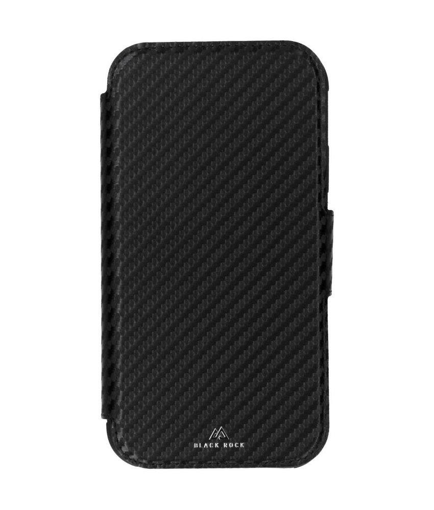 Black Rock Zwart Flex Carbon Robust Wallet iPhone Xr