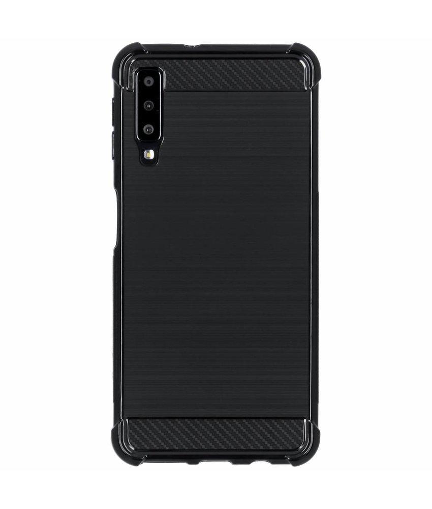 Zwart xtreme siliconen hoesje Samsung Galaxy A7 (2018)
