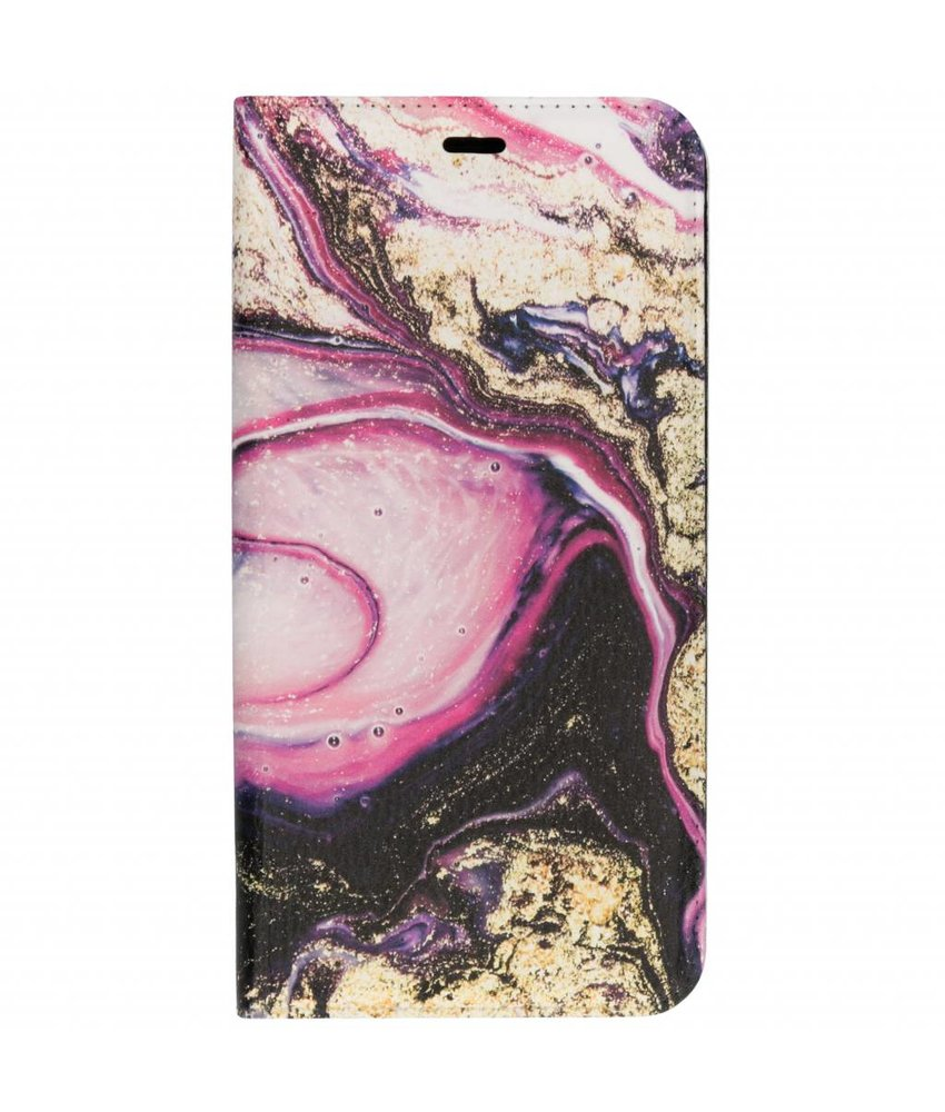 Roze lava Design TPU Bookcase Samsung Galaxy J4 Plus