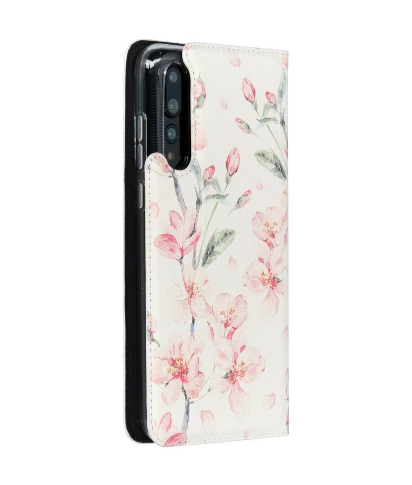 Design Softcase Booktype Huawei P20 Pro