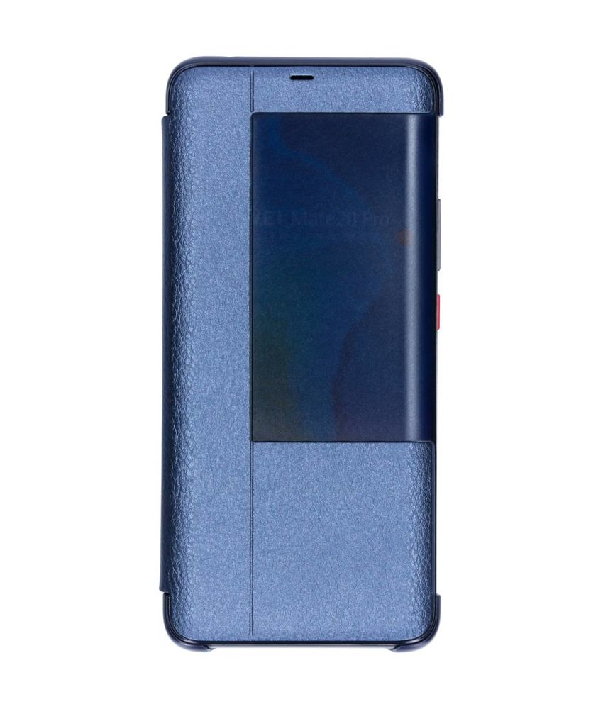 Blauw view cover booktype hoes Huawei Mate 20 Pro