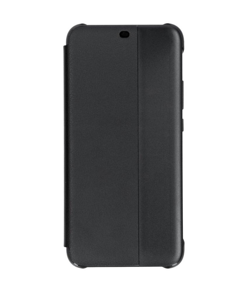 Zwart Smart View Flip Cover Huawei Mate 20 Lite