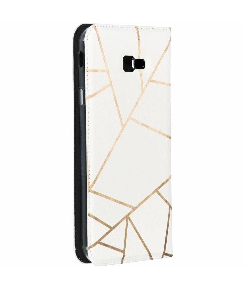 Design TPU Bookcase Samsung Galaxy J4 Plus