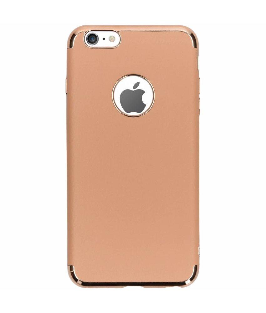 Brons luxe lederen siliconen case iPhone 6(s) Plus