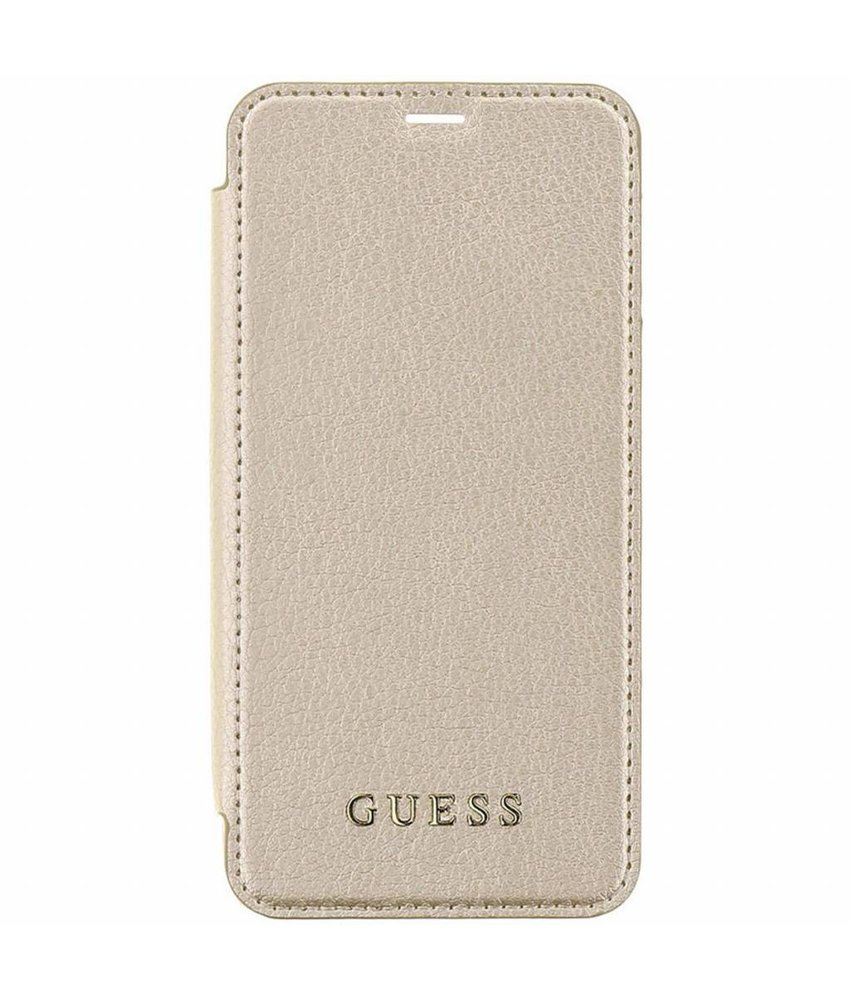 Guess Goud Transparant Back Foliocase iPhone Xr