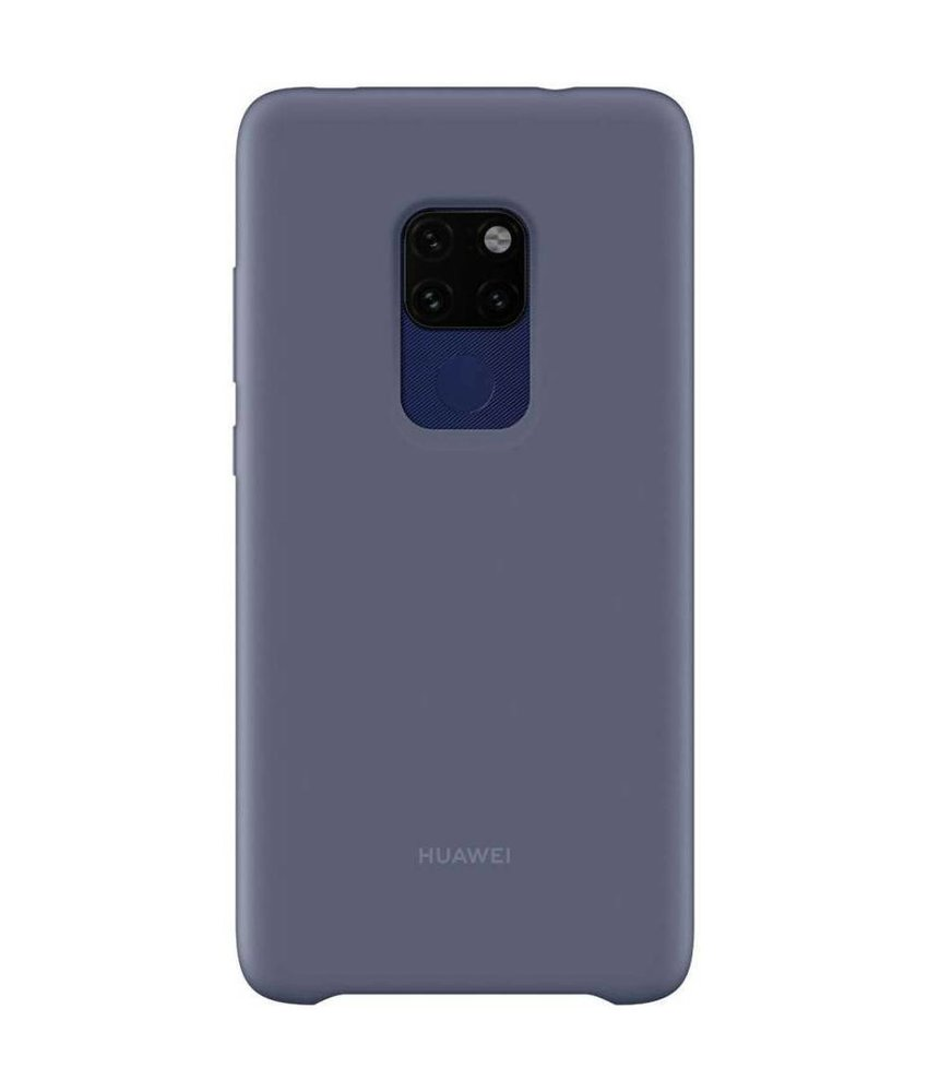 Huawei Blauw Silicone Car Case Mate 20