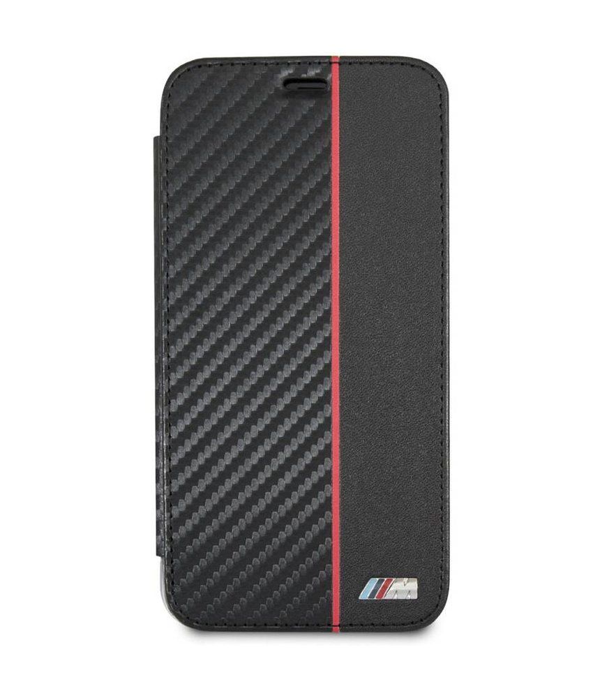 BMW Zwart / Rood Book Cover iPhone Xs / X