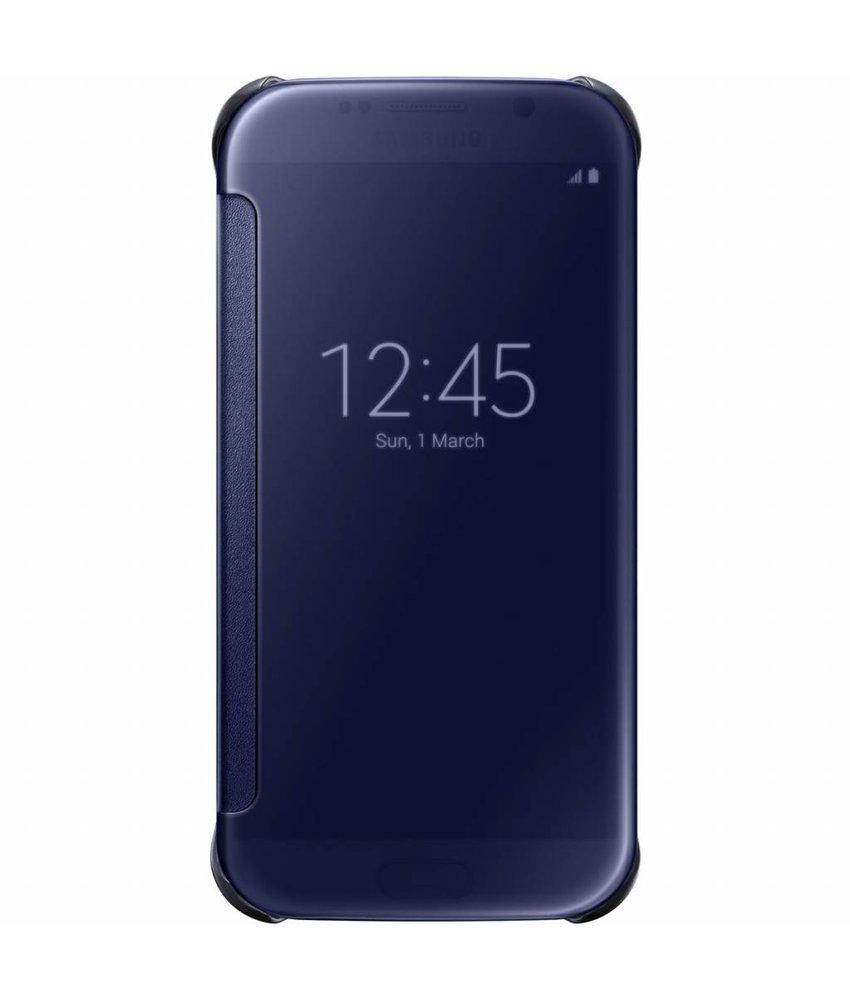 Samsung Blauw originele Clear View Cover Galaxy S6