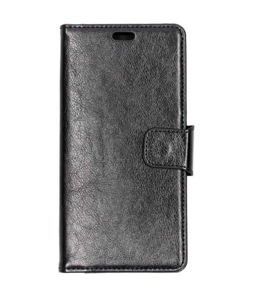 Zwart split leather booktype Samsung Galaxy A9 (2018)