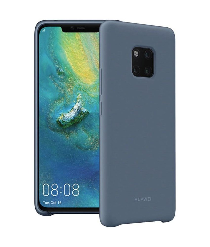 Huawei Blauw Silicone Case Mate 20 Pro