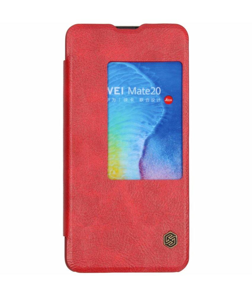 Nillkin Rood Qin Leather Slim Booktype Huawei Mate 20
