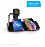 Zens Dual + Watch Aluminium Wireless Charger 2 x 10W - Zwart