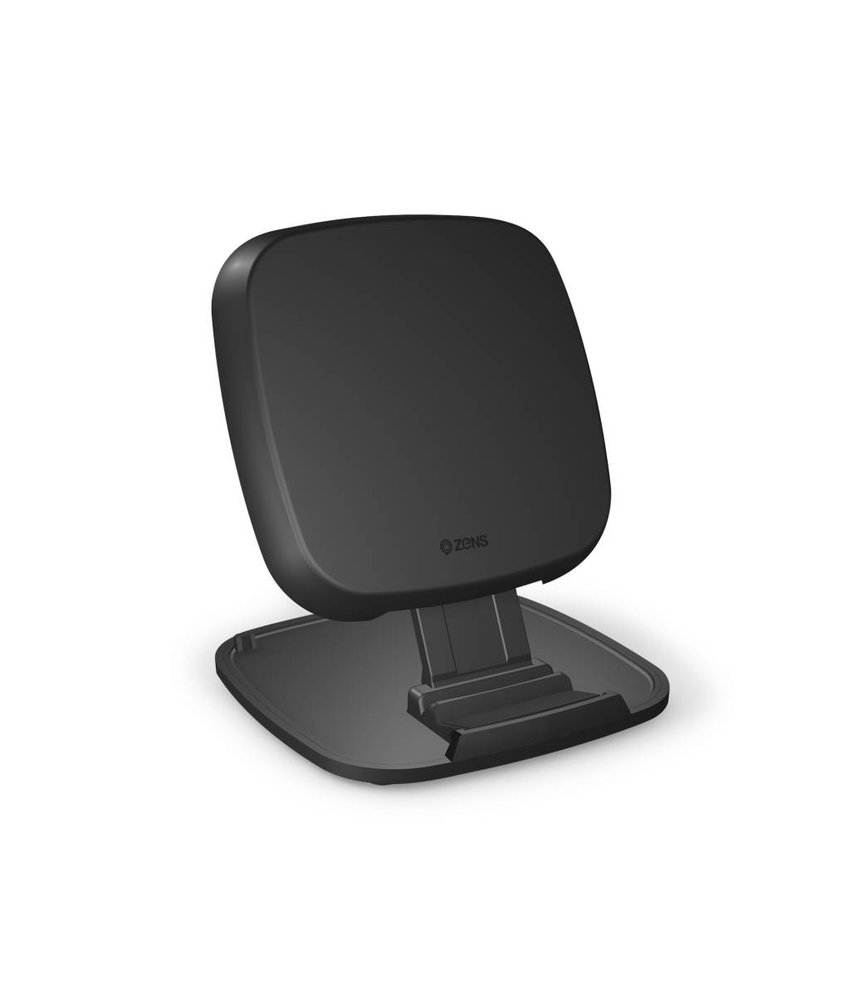 Zens Fast Wireless Charger Stand / Base 10W - Zwart