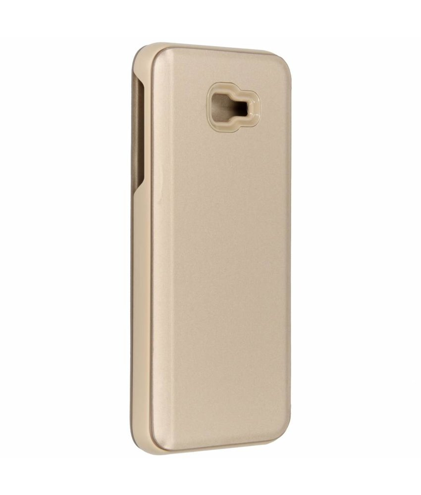 Goud luxe stand booktype hoes Samsung Galaxy J4 Plus