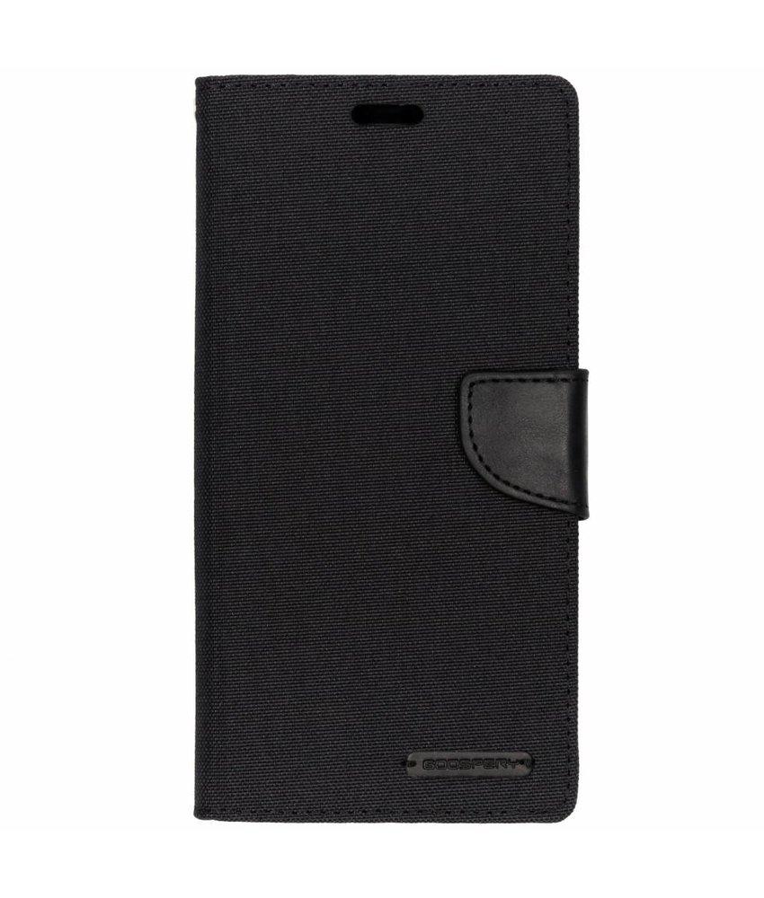Mercury Goospery Zwart Canvas Diary Case Samsung Galaxy A9 (2018)