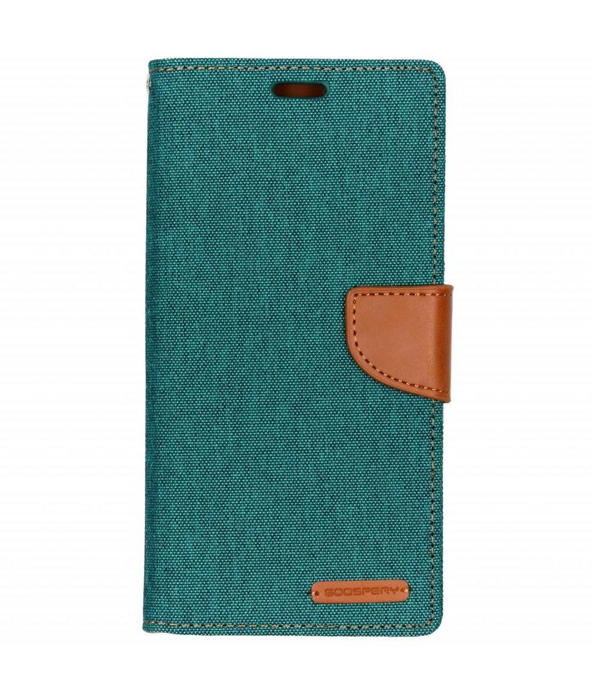 Mercury Goospery Groen Canvas Diary Case Samsung Galaxy A9 (2018)