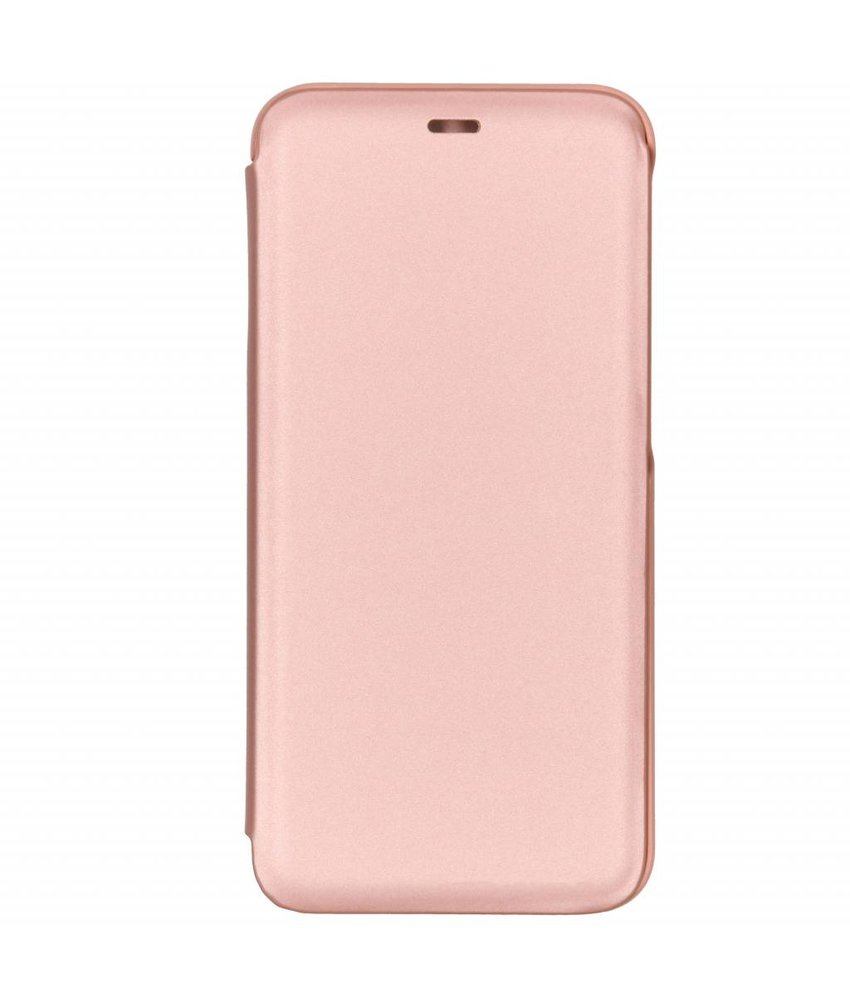 Rosé Goud luxe stand booktype hoes Samsung Galaxy J6 Plus