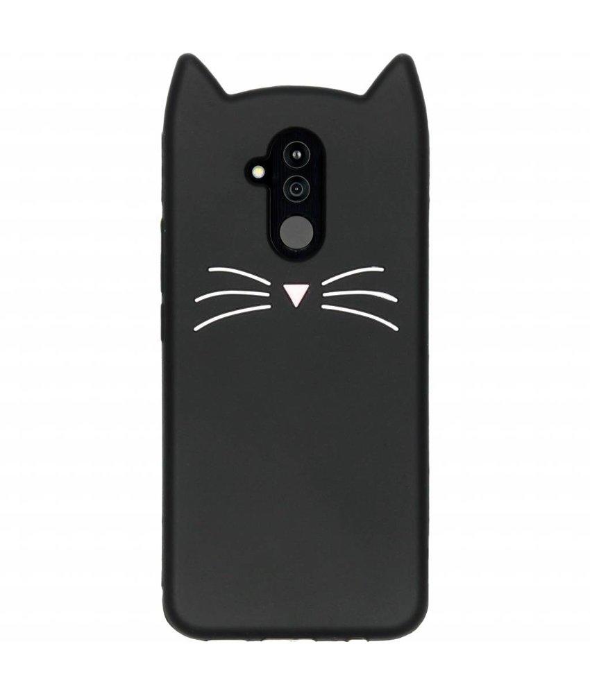 Zwart kat TPU hoesje Huawei Mate 20 Lite