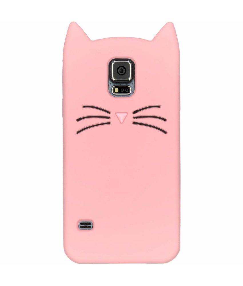Roze kat TPU hoesje Samsung Galaxy S5 (Plus) / Neo