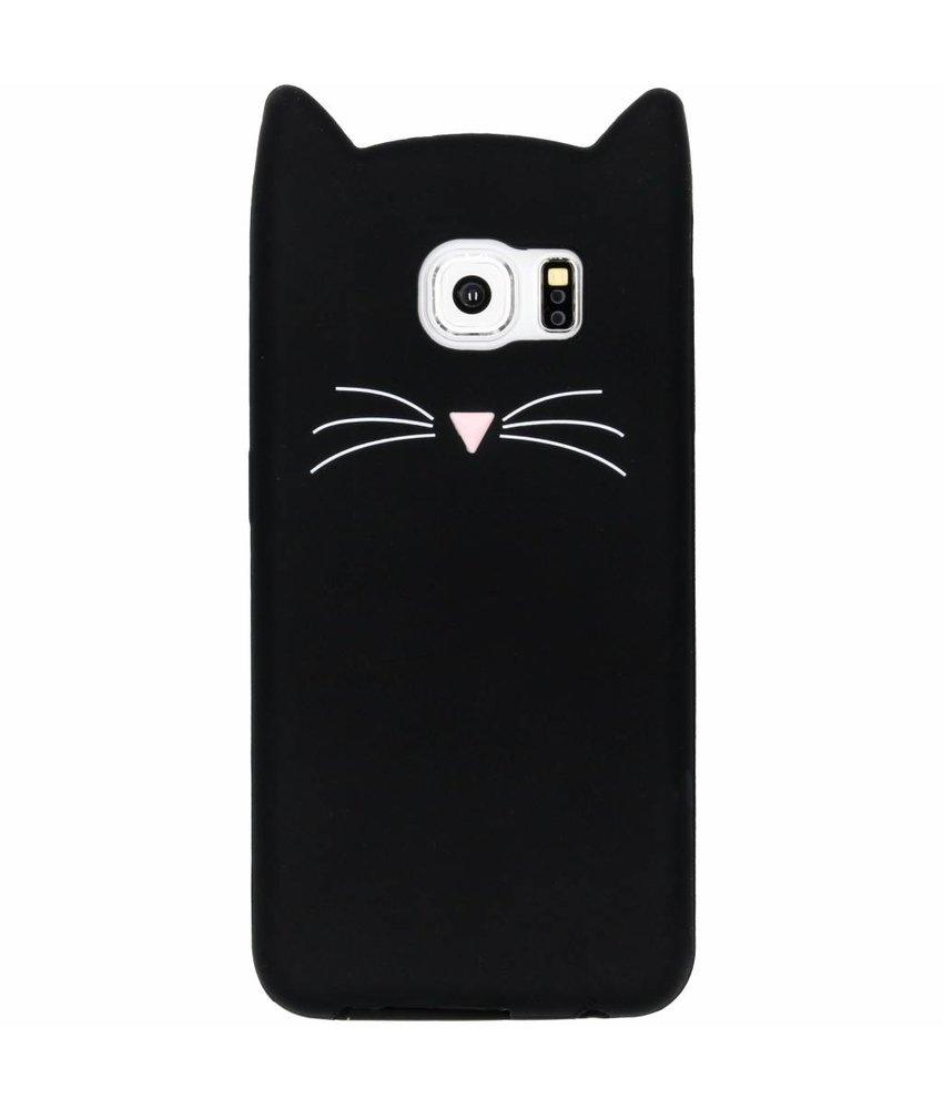 Zwart kat TPU hoesje Samsung Galaxy S6