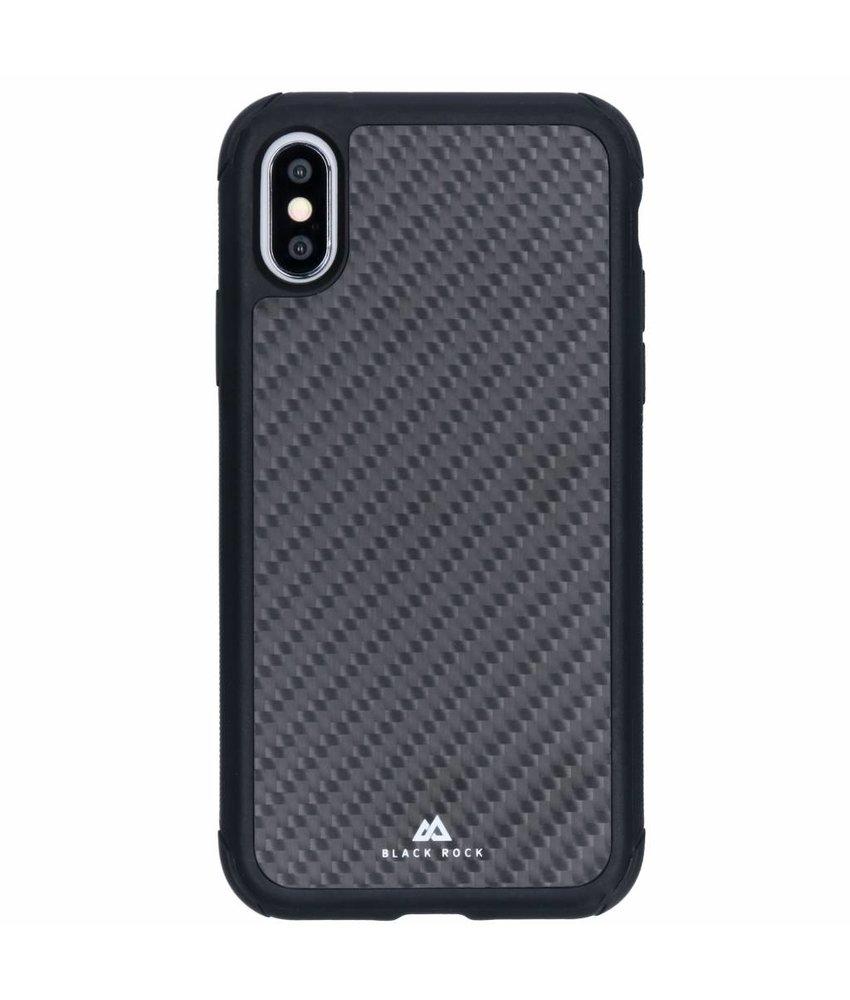 Black Rock Zwart Real Carbon Robust Case iPhone Xs / X