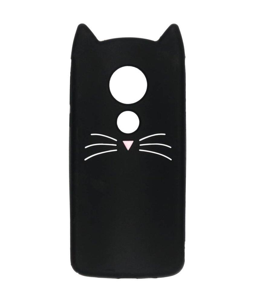 Zwart kat TPU hoesje Motorola Moto E5 / G6 Play