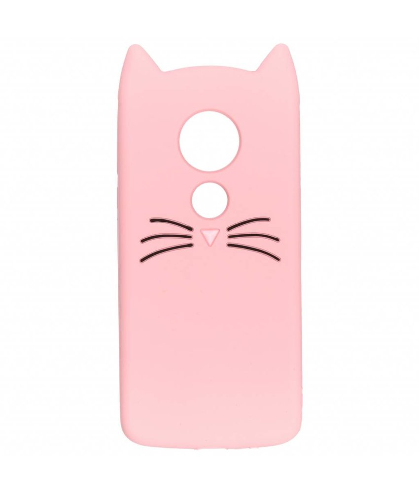 Roze kat TPU hoesje Motorola Moto E5 / G6 Play