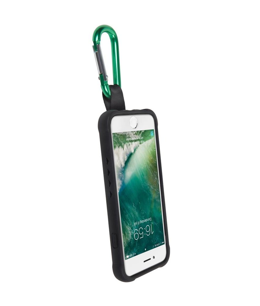 Gecko Covers Zwart Back Cover Bounce met clip iPhone 8 / 7