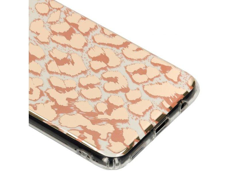 Huawei Mate 20 Lite hoesje - Luipaard metallic design siliconen