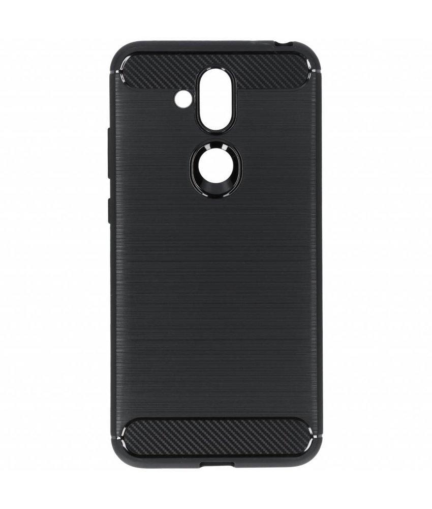 Zwart Brushed TPU case Nokia 8.1