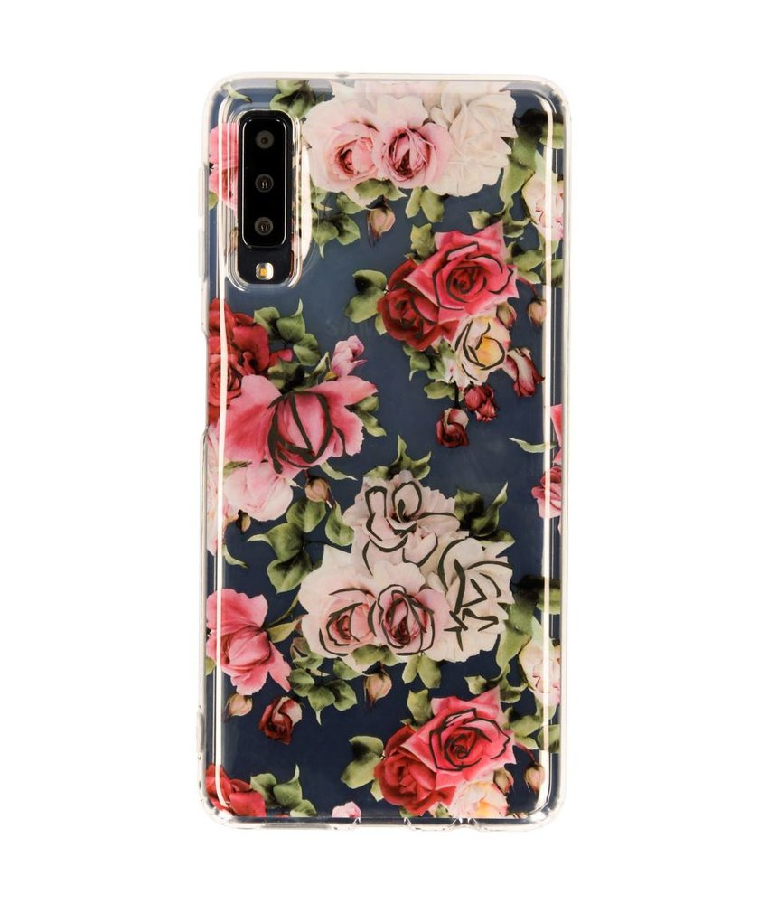 Metallic Softcase Backcover Samsung Galaxy A7 (2018)