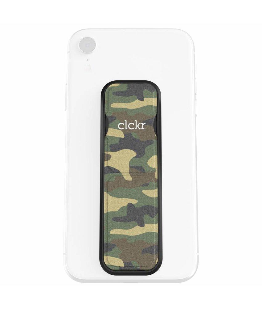 Clckr Camouflage Groen Universal Phone Grip