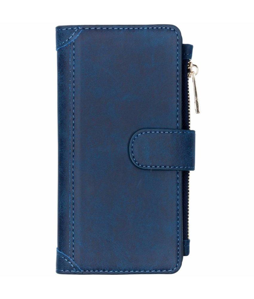 Blauw luxe portemonnee hoes Huawei P Smart (2019)