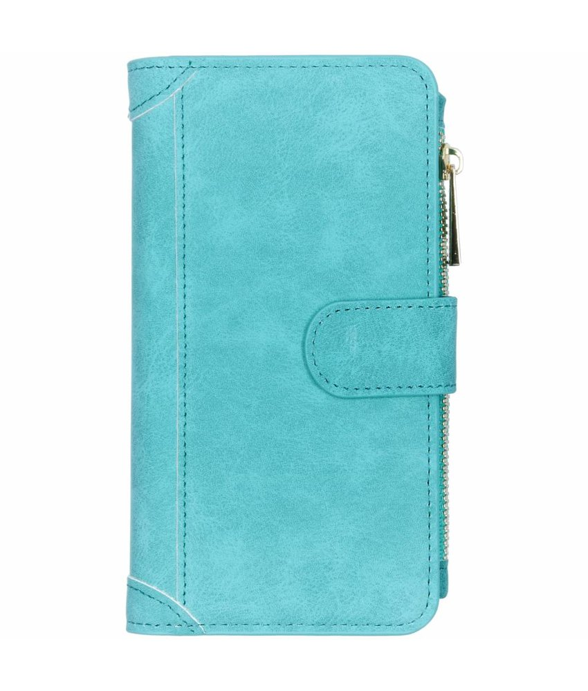 Turquoise luxe portemonnee hoes Samsung Galaxy S10
