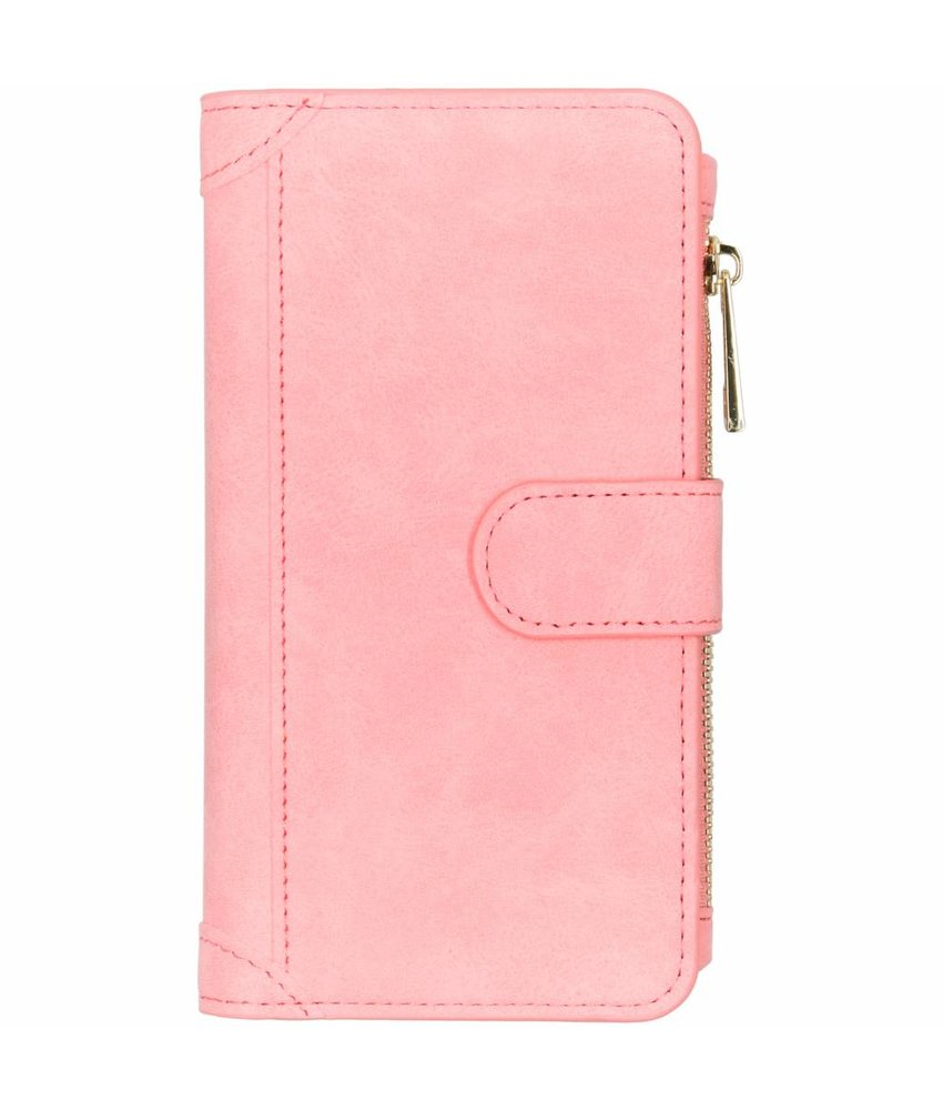 Roze luxe portemonnee hoes Samsung Galaxy S10