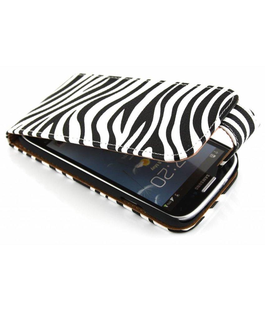 Zebra classic flipcase Samsung Galaxy S4