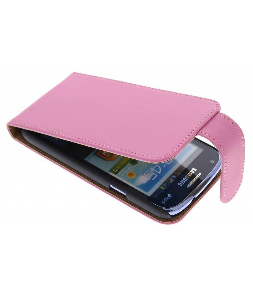Roze classic effen flipcase Samsung Galaxy Core