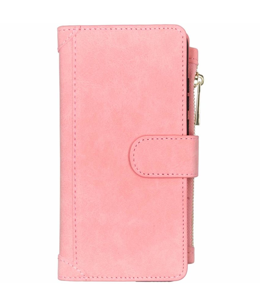 Roze luxe portemonnee hoes Huawei P Smart (2019)
