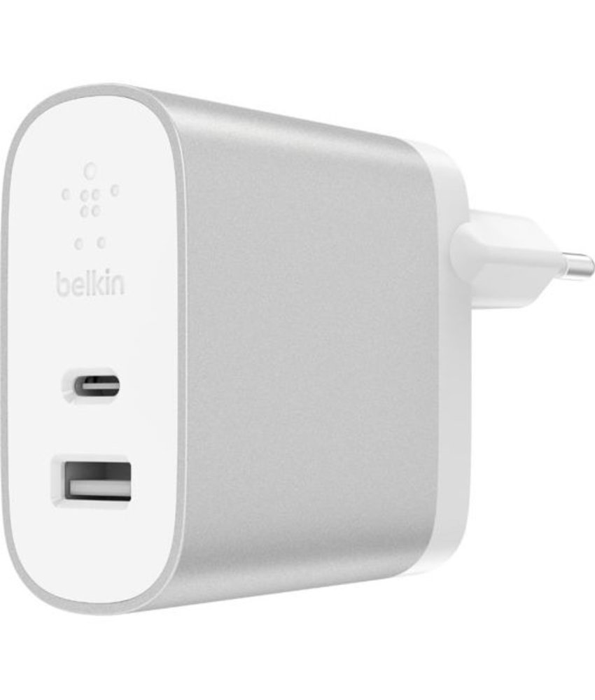 Belkin Zilver BOOST↑ Charge™ USB-C + USB-A Home Charger