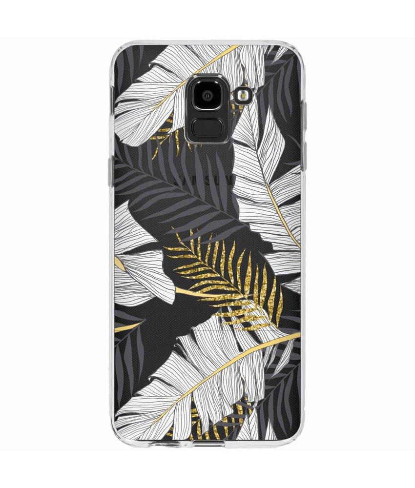 Botanic design siliconen hoesje Samsung Galaxy J6