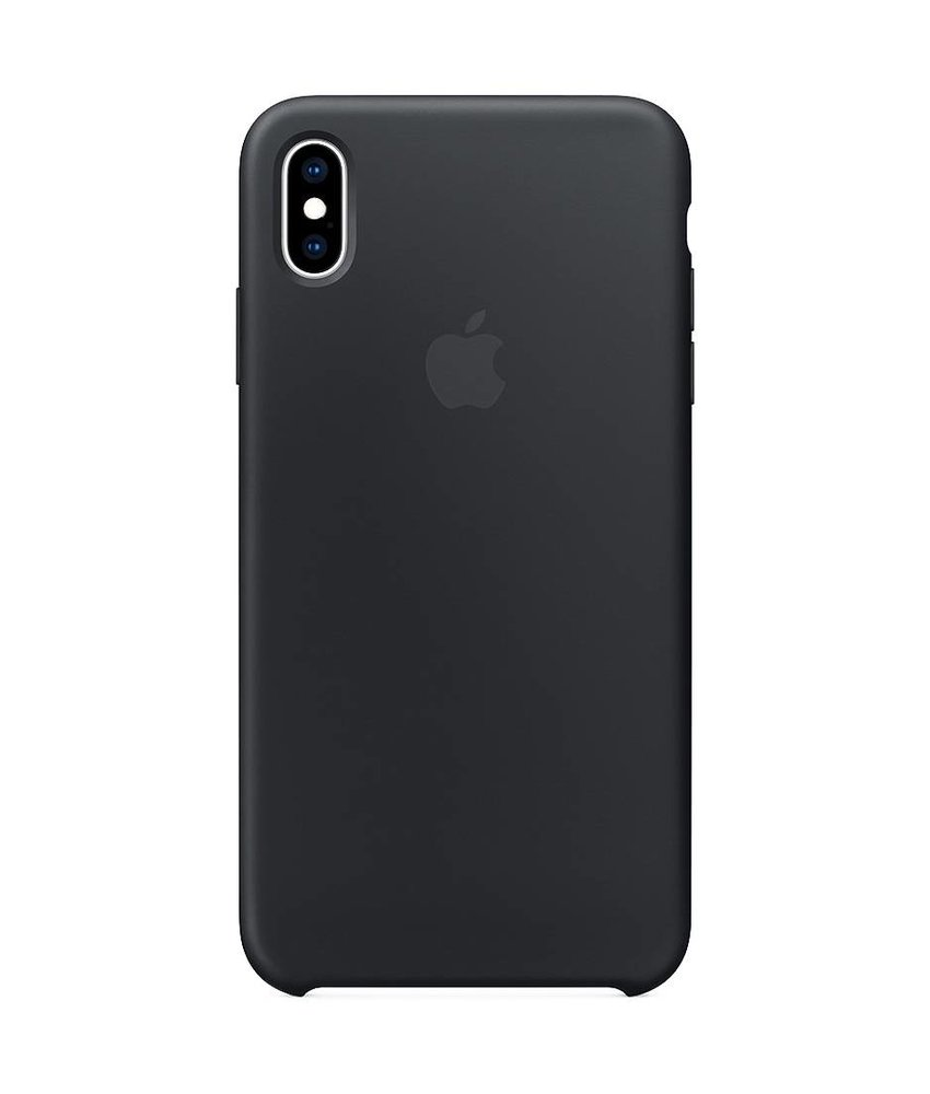Apple Zwart Silicone Case iPhone Xs Max