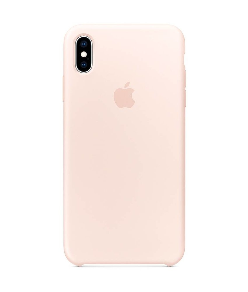 Apple Silicone Backcover iPhone Xs Max - Roze