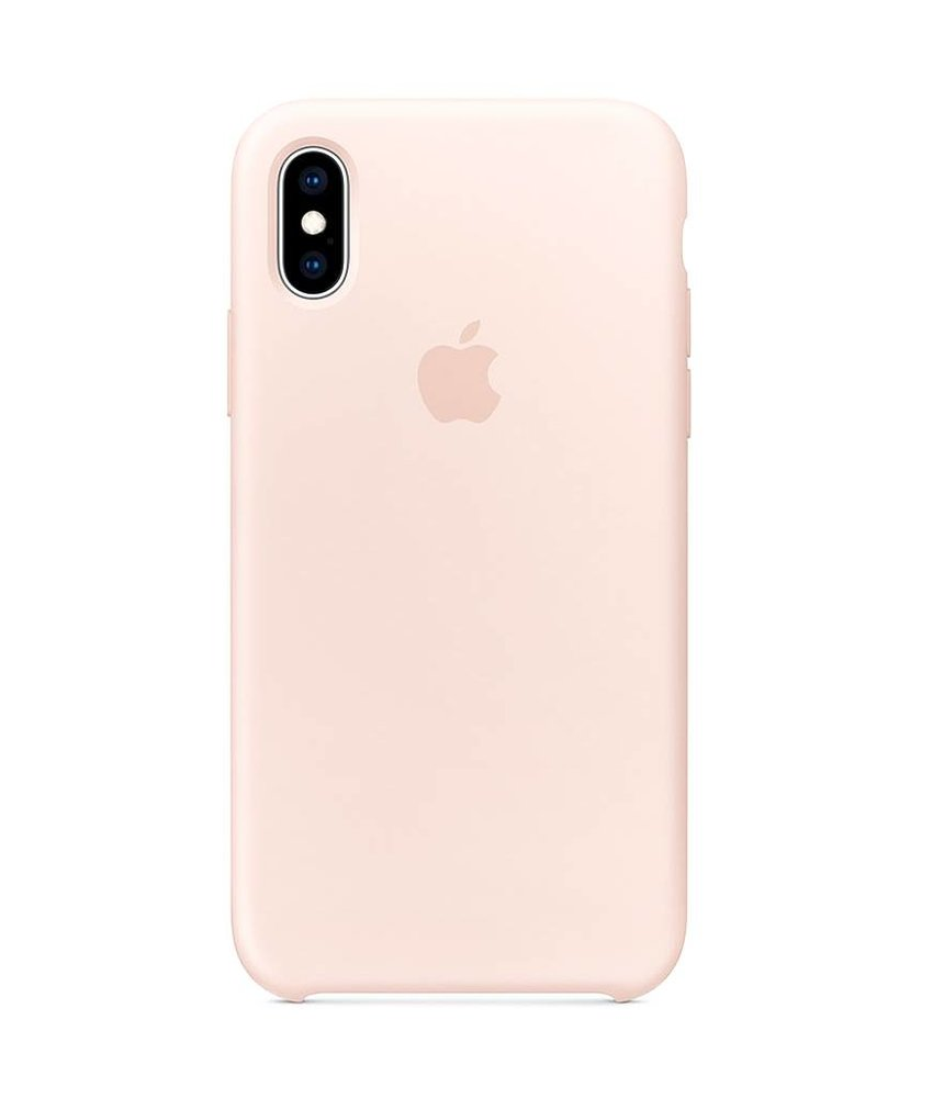 Apple Roze Silicone Case iPhone Xs / X