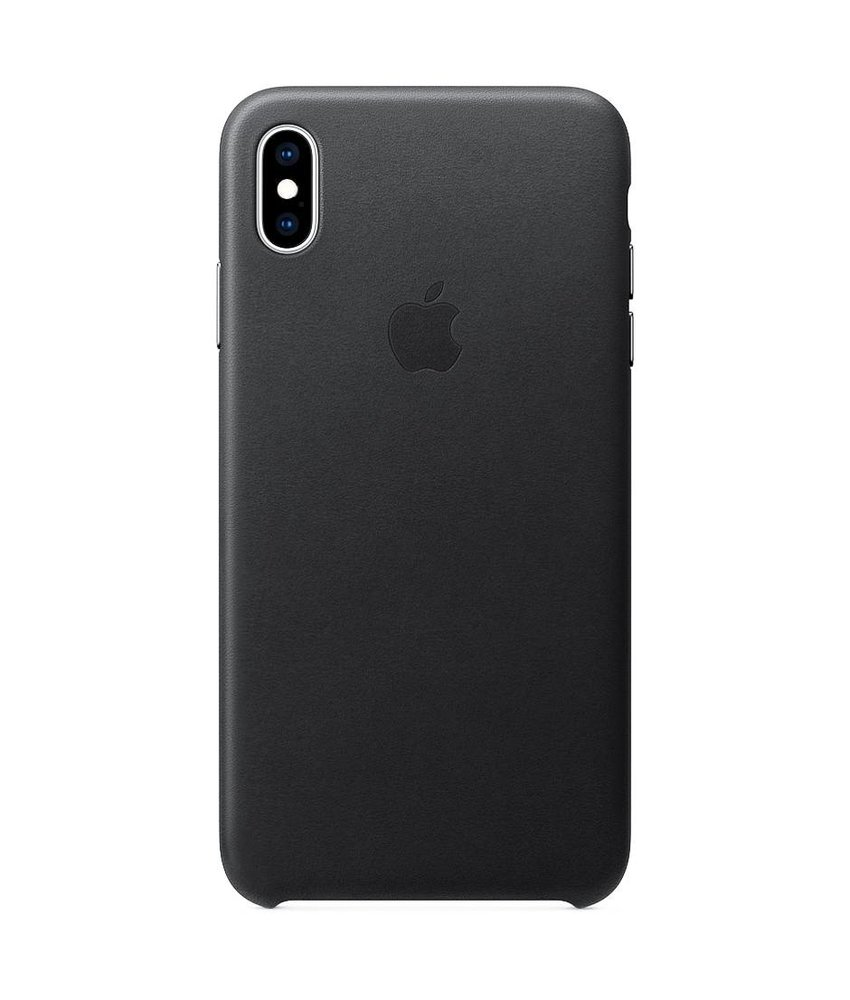 Apple Leather Backcover iPhone Xs Max - Zwart