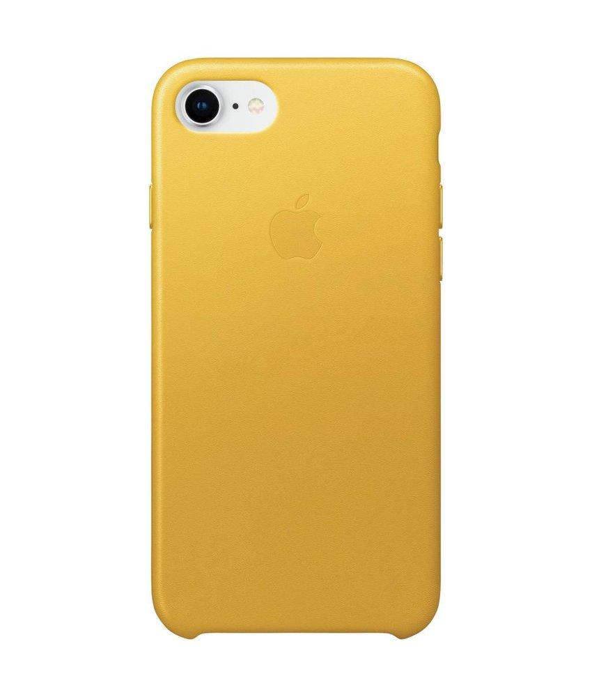 Apple Geel Leather Case iPhone 8 / 7