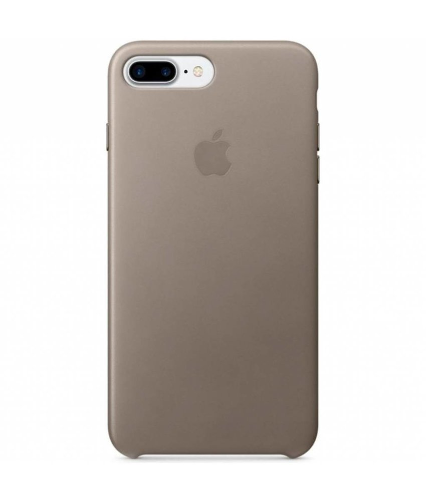 Apple Leather Backcover iPhone 8 Plus / 7 Plus - Beige