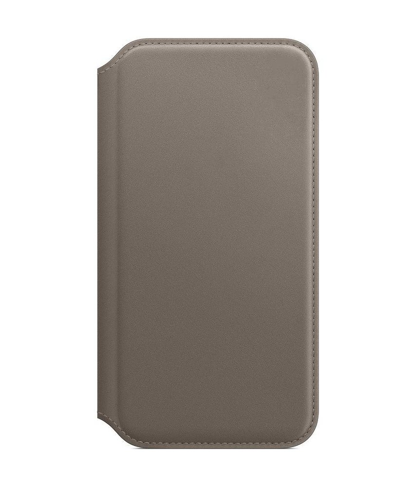 Apple Leather Folio Booktype iPhone X - Taupe